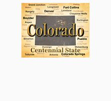 Aged Colorado State Pride Map Silhouette  Unisex T-Shirt