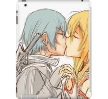 Kirito and Asuna Kissing Sword Art Online Doodle Glowing iPad Case/Skin