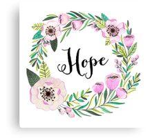 Hope Lettering Watercolor Ilustration Canvas Print
