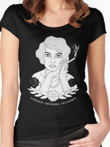 New Traditional Smoker Women's Fitted Scoop T-Shirt