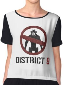 District 9 sign Chiffon Top