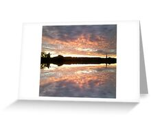 Sunset 700 mirror / reflection Greeting Card