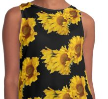 Black Magic Sunflower Contrast Tank