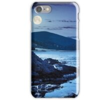 lake with boulders in mountains at night iPhone Case/Skin