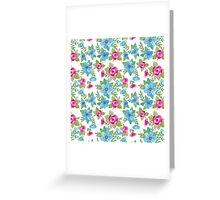 Blue Lilly Watercolor Greeting Card