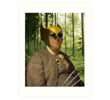 Wolverine + Ben Franklin Mash Up Art Print