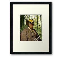 Wolverine + Ben Franklin Mash Up Framed Print