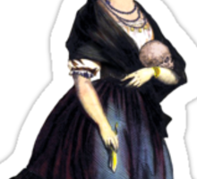 Black Magic Woman (No Background) Sticker