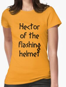 Hector (Black) Womens Fitted T-Shirt