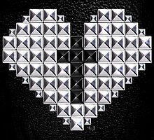 studded heart and cross by filippobassano
