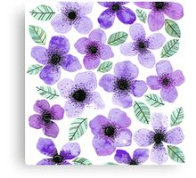 LILLY LILA Watercolor Canvas Print