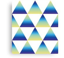 Gradient Triangle geometric pattern Canvas Print