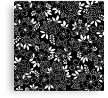 Rosalie Black Drawing with Ink Canvas Print