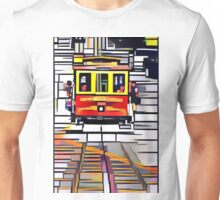 Abstracted Quartered Cubed Rectangled Cable Car Unisex T-Shirt