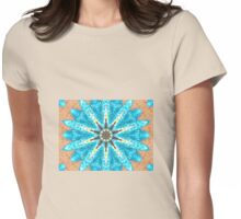 zen turquoise Womens Fitted T-Shirt