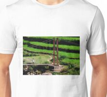 Precarious Footbridge Tower in Nepal Unisex T-Shirt