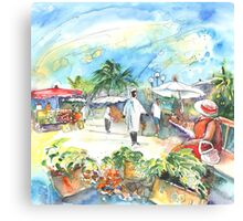 Market In Saint M Canvas Print