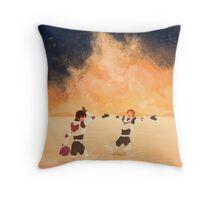 Orange Sea - Klance Throw Pillow