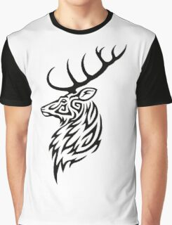 Tribal Stag Graphic T-Shirt