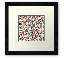 SPRING BUNCH WATERCOLOR Framed Print