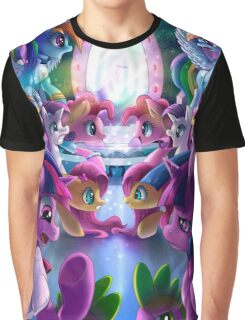 Double World Pony Graphic T-Shirt