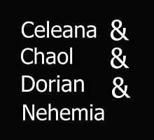 Celeana & Chaol & Dorian & Nehemia BLACK by thephantom1235