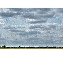 Field of clouds Photographic Print