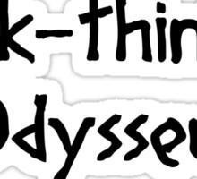 Quick-thinking Odysseus (Black) Sticker