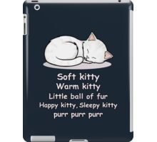 Soft Kitty iPad Case/Skin