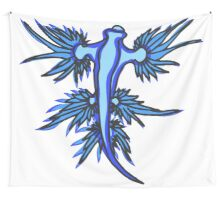 Blue Dragon, white background, but don't order it at the bar Wall Tapestry