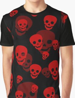 Red Skull Pattern Graphic T-Shirt