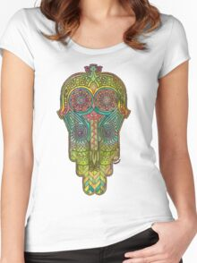 Hamsa/Protection Women's Fitted Scoop T-Shirt