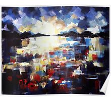 Step outside, abstract art painting Poster
