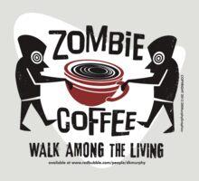 Zombie Coffee Retro T-shirt original design by DKMurphy