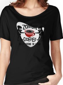 Zombie Coffee Retro T-shirt original design Women's Relaxed Fit T-Shirt