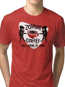 Zombie Coffee Retro T-shirt original design Tri-blend T-Shirt