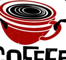 Zombie Coffee Retro T-shirt original design Sticker