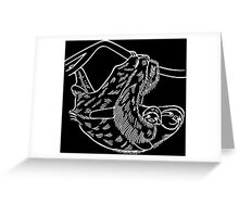 Sloths in White Greeting Card