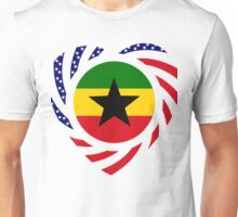Ghanaian American Multinational Patriot Flag Series 2.0 Unisex T-Shirt