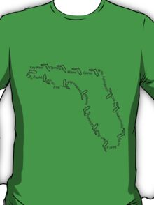 Cities of Florida 001 T-Shirt