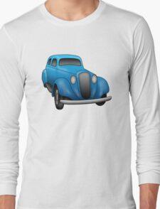 Blue Vintage Car Long Sleeve T-Shirt