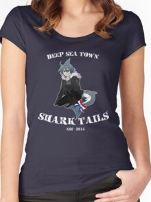 Wadanohara and the Great Blue Sea - Deep Sea Town Shark Tails / Samekichi Women's Fitted Scoop T-Shirt