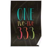 1 2 3 - One Two Three Poster