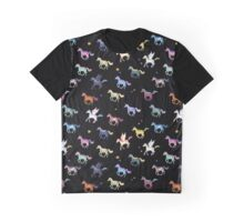 Magic Horses black Graphic T-Shirt