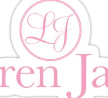 Lauren James Logo - Pretty in Pink Sticker