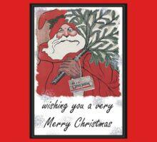Wishing You A Very Merry Christmas Greeting  Kids Tee
