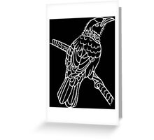 Tui in White Greeting Card