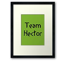 Team Hector (Black) Framed Print