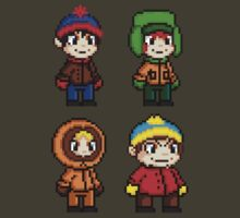 South Park Boys - Pixel Art by geekmythology