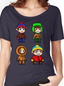 South Park Boys - Pixel Art Women's Relaxed Fit T-Shirt